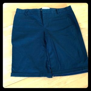 Anthro Elevenses 8 blue Bermuda shorts